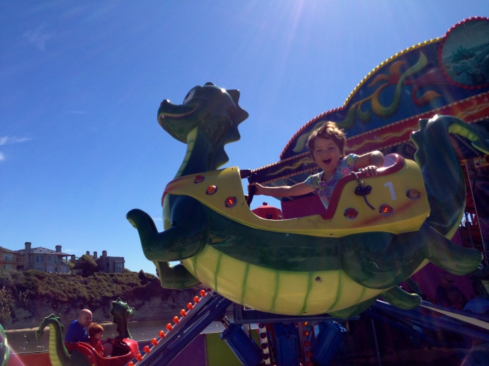 Alice on the dragon ride