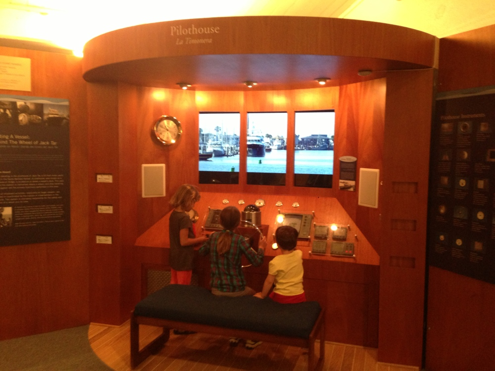 Testing their navigation skills at the Santa Barbara Maritime Museum