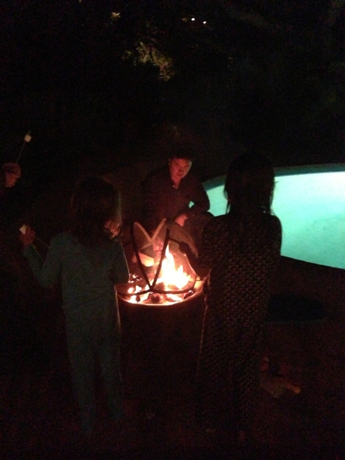 Marshmallows toasted to celebrate Kiwi friends in the house!