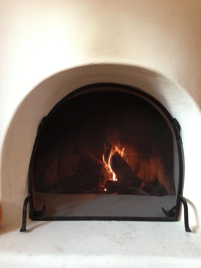 First fire of autumn