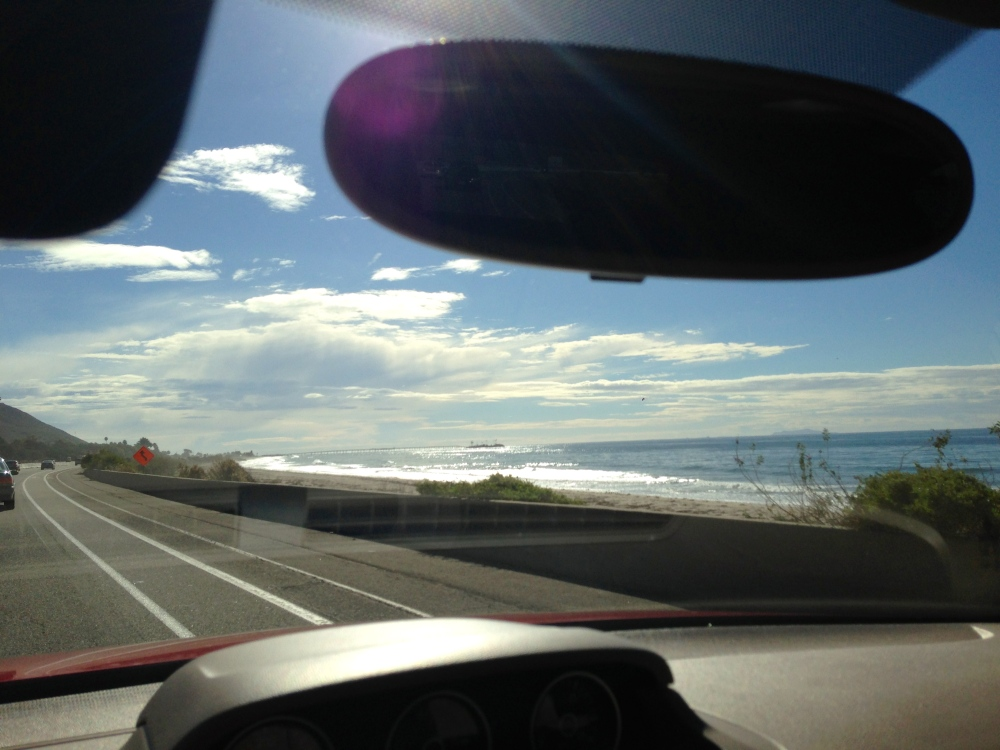 Leaving sunny Santa Barbara