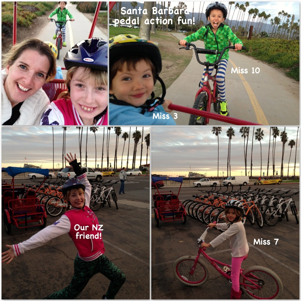 Biking on the Santa Barbara waterfront