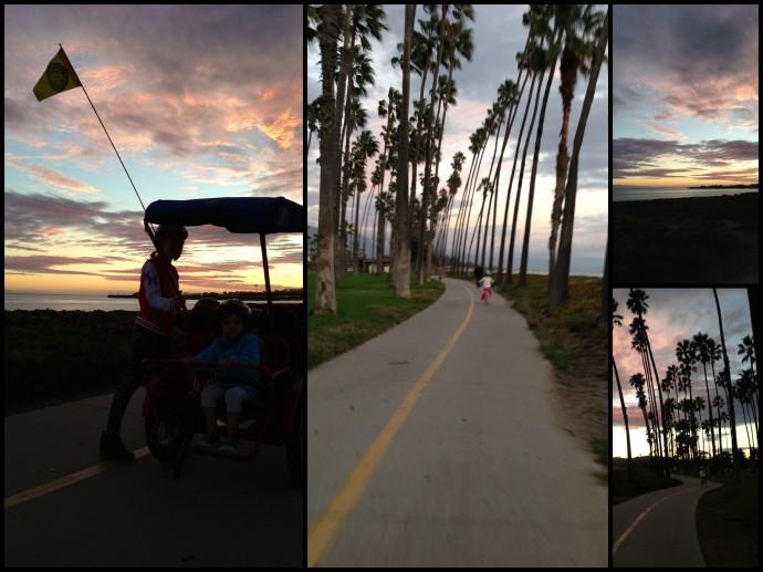 Pedal fun at sundown in Santa Barbara