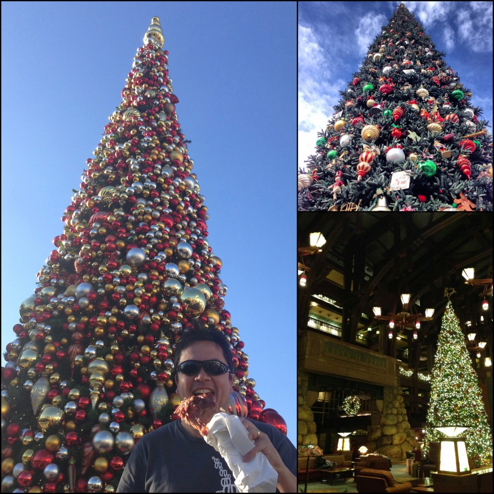 Disneyland California Christmas Trees