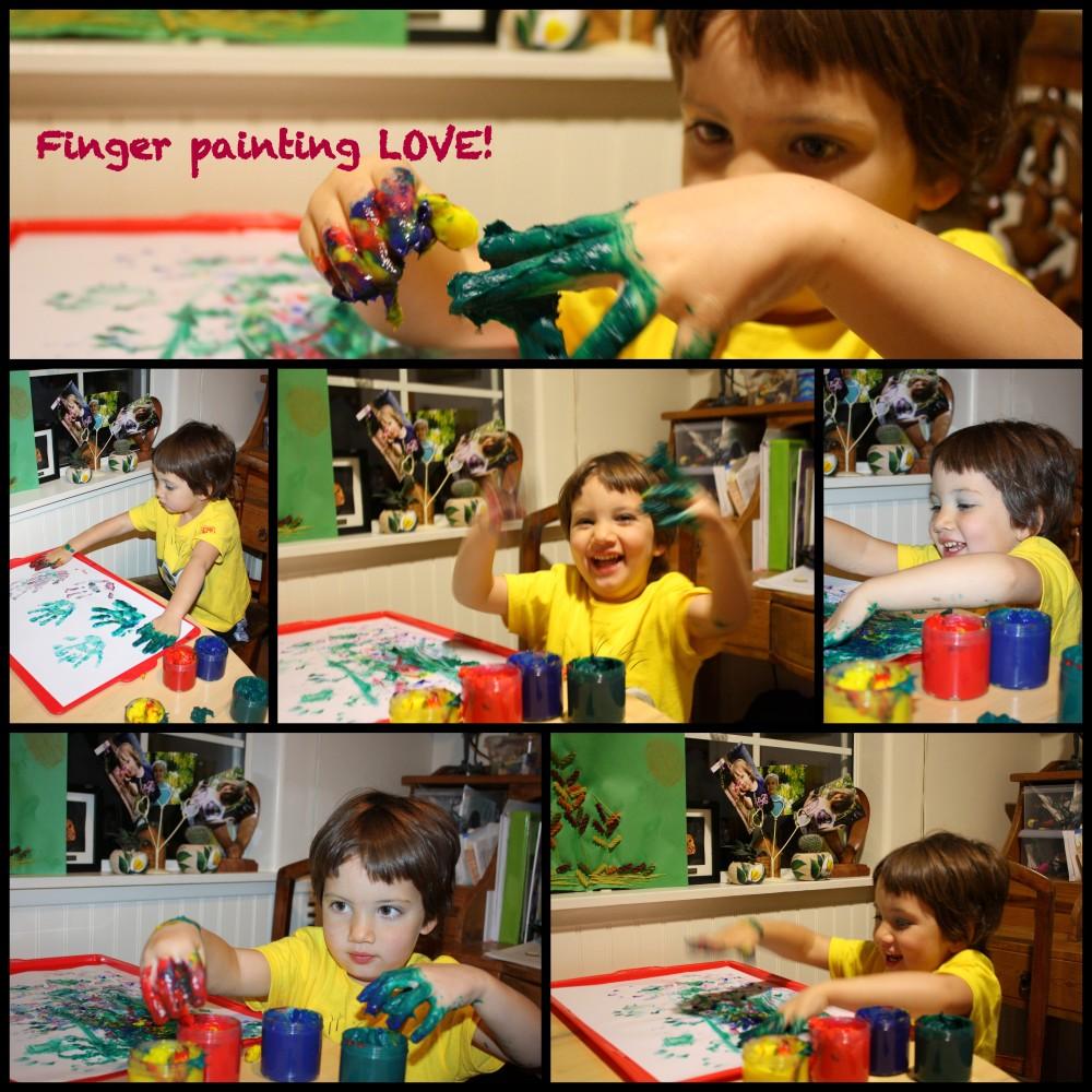 Finger painting LOVE!