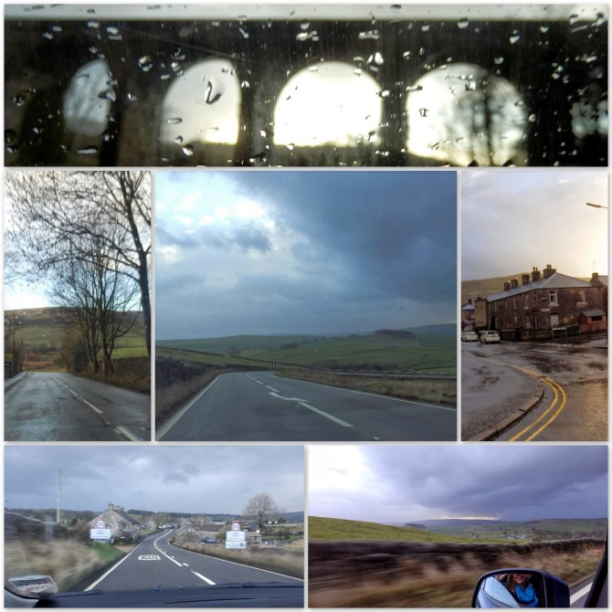 Driving through real weather in the Peak District