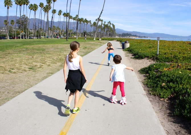 Waterfront fun with my daughters in Santa Barbara