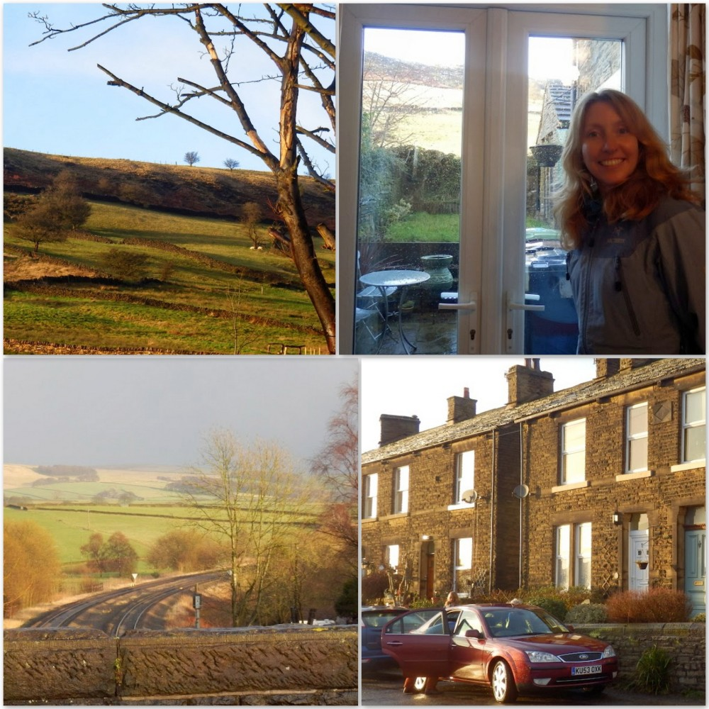 My sister at home in the Peak District
