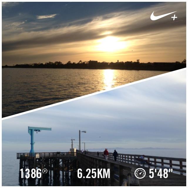 Monday night's run