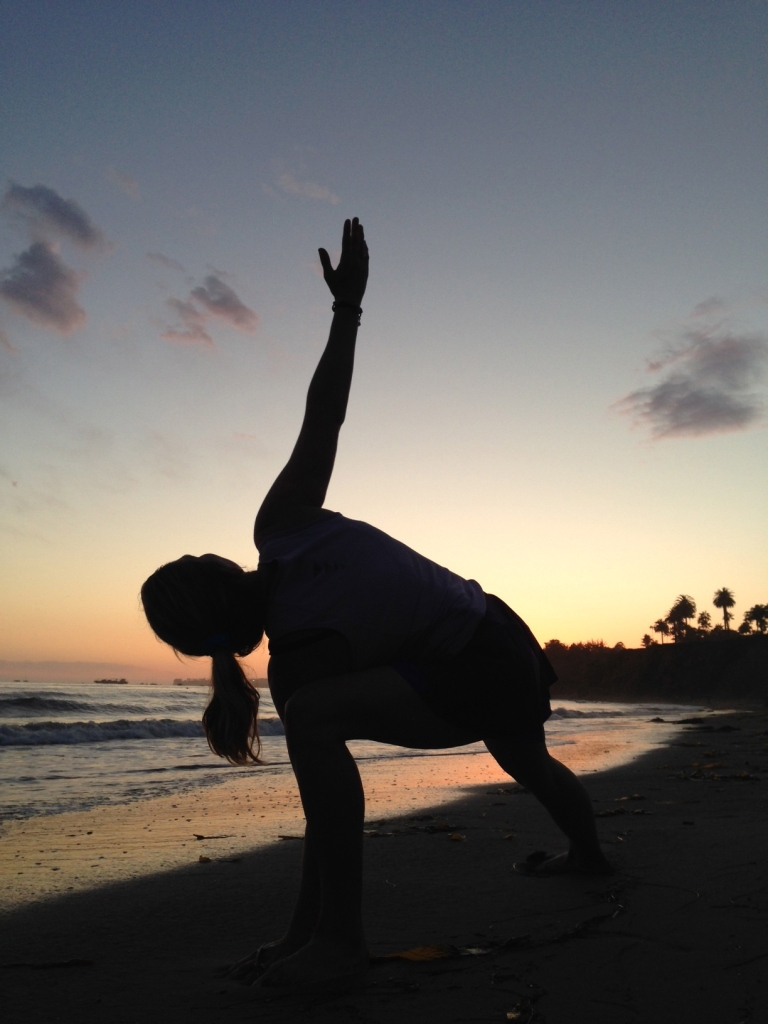 Stretching out on Butterfly Beach