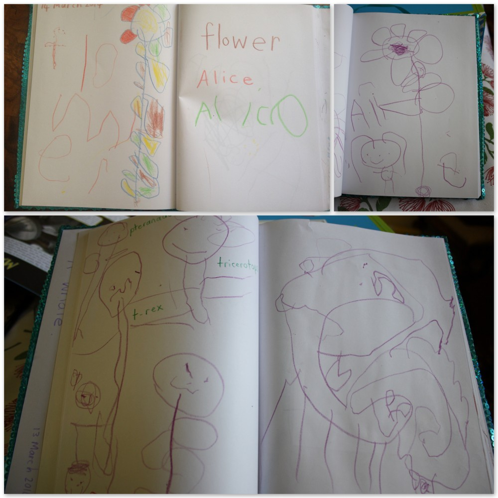 Miss 4 drawing