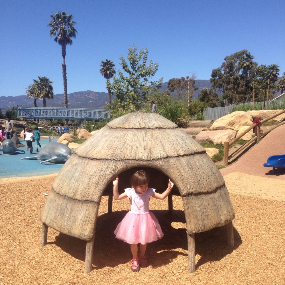 Interpretative play area in Carpinteria