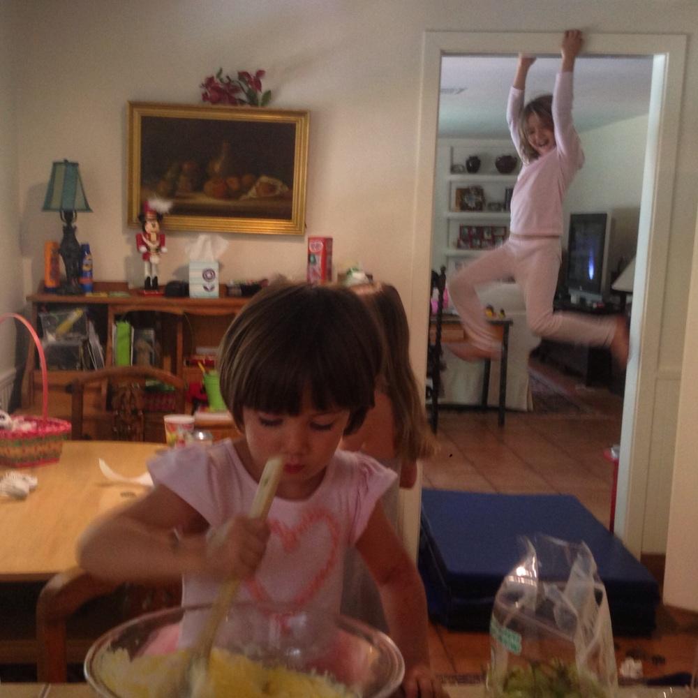 Activity in the kitchen