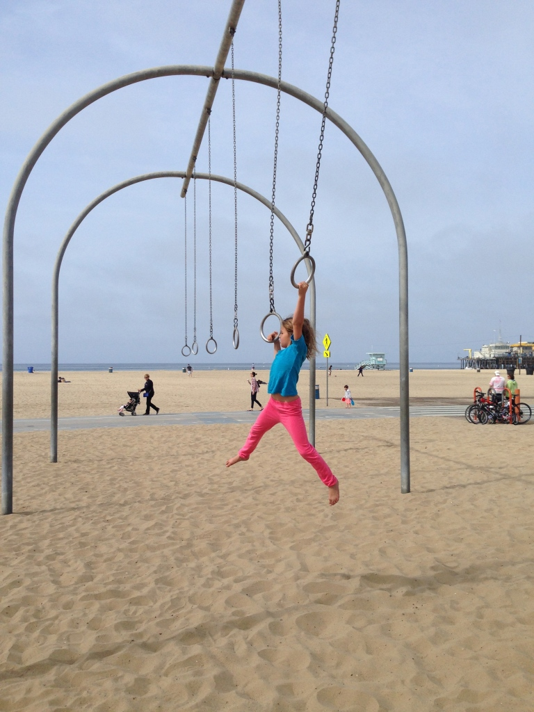Hanging around at Santa Monica beach