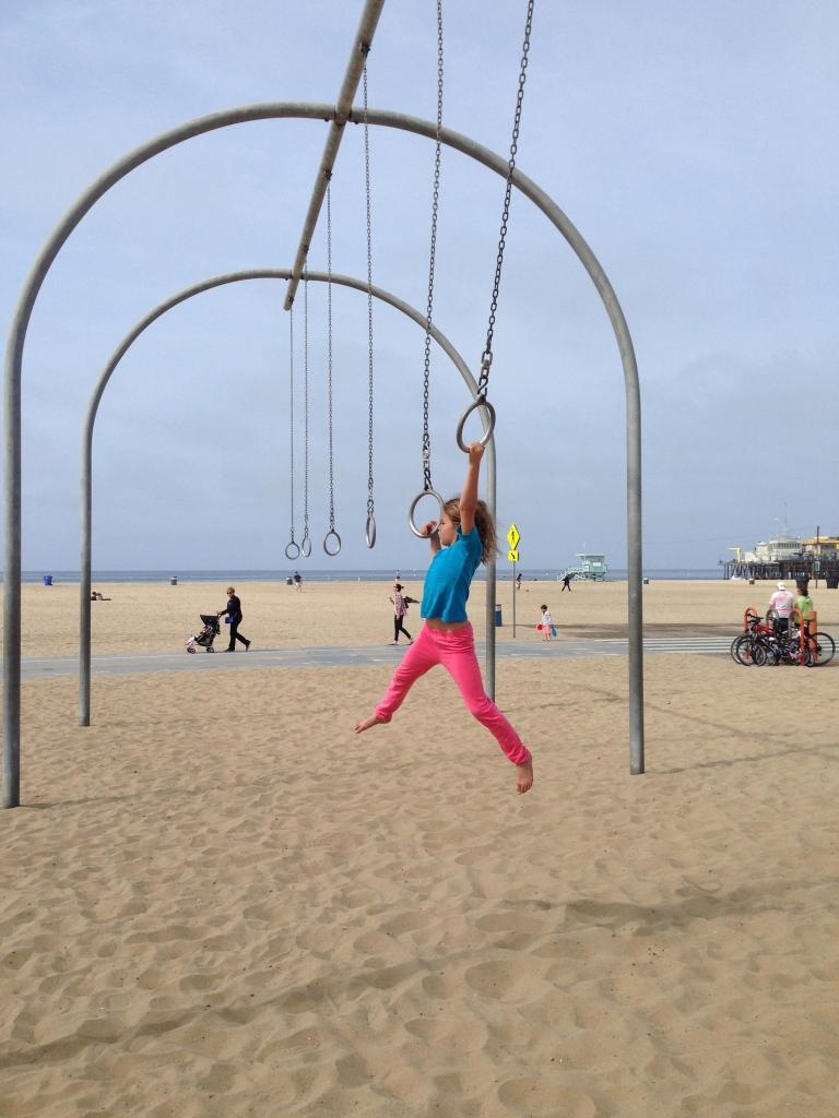 Hanging around at Santa Monica beach