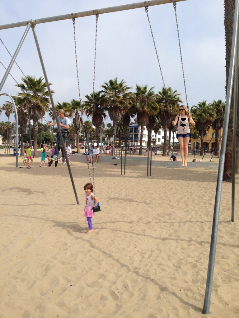 Me going HIGH on the swings!