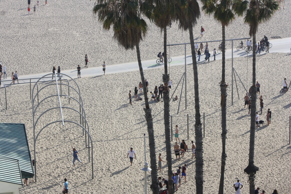 Beach gym Santa Monica