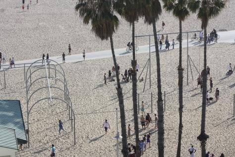 Beach gym Santa Monica