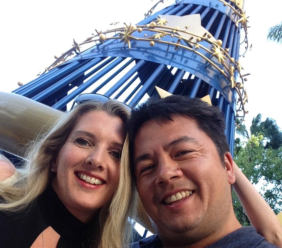 Me & hubbie at Disneyland