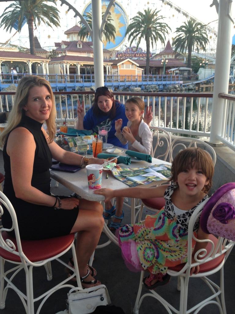 Dinner overlooking Paradise Pier