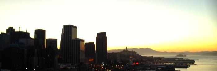 Arriving in SF at sunset
