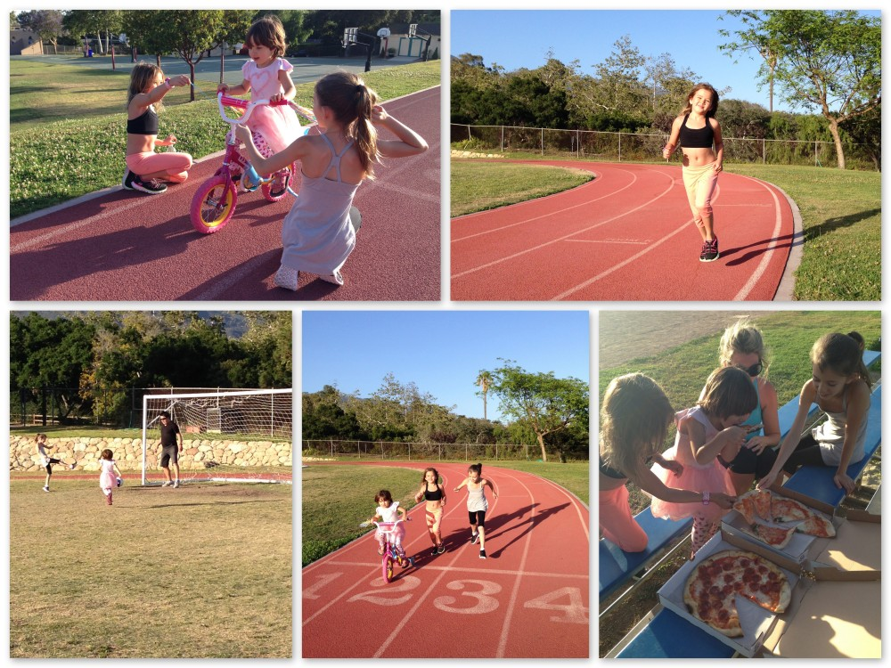 Family fun at the school field