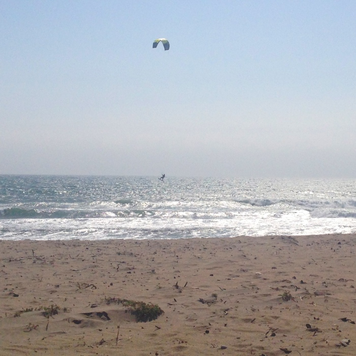 Kite surfer catching some air!