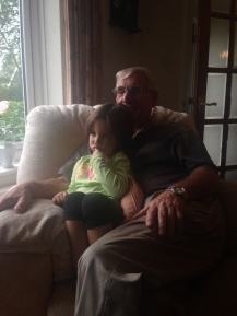 Cuddles with Granddad