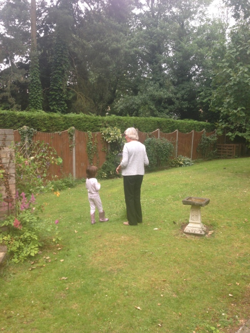 Grandma & Miss 4 talking bird feeding devices