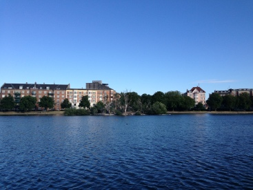 Natural islands on The Lakes, Copenhagen