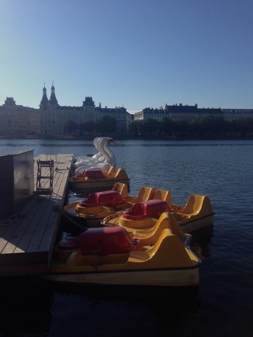Pedalo boats on The Lakes, Copenhagen