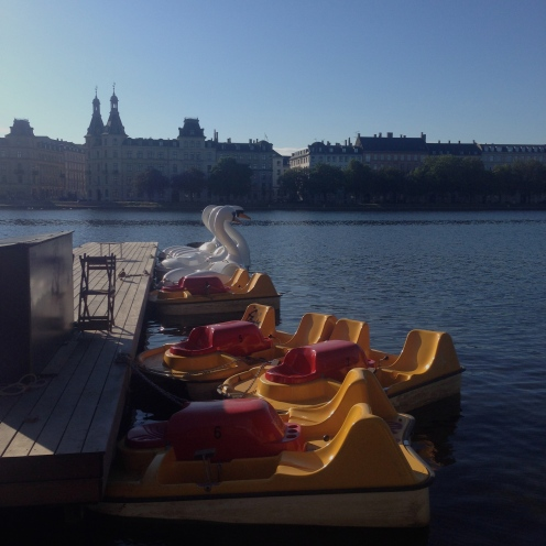 Pedalo boats on The Lakes, Copenhagen