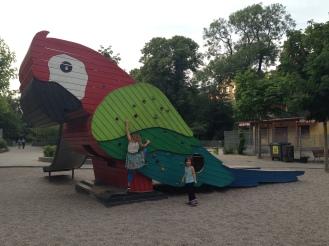 Outdoor play space in central Copenhagen