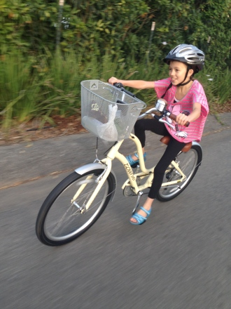 First bike ride on her new bike!