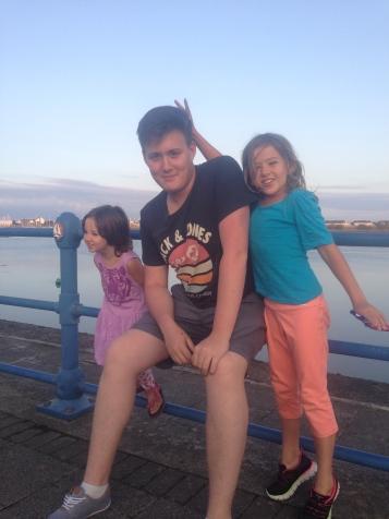 Sisters with cousin Jordan