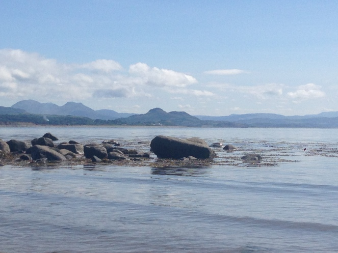 The coastline at the caravan park