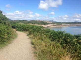 Coastal pathway bordering the Hafan Y Mor Caravan park