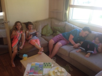 Sisters with cousin Daniel